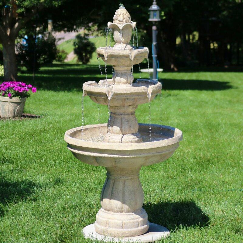 Astoria Grand Durbin Fibergl 3 Tier Water Fountain Reviews Wayfair