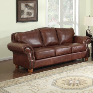 Battista Leather Sofa by Darby Home Co Best Design