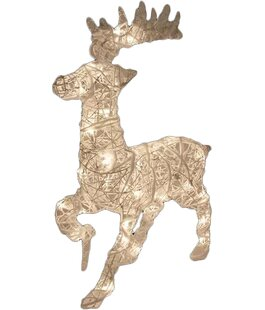 rattan trumpeting reindeer christmas decoration - White Deer Christmas Decoration