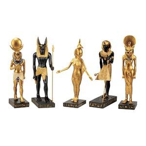 5-Piece Gods of the Egyptian Realm Figurine Set