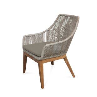 Bungalow Rose Judith Teak Patio Chair with Cushion