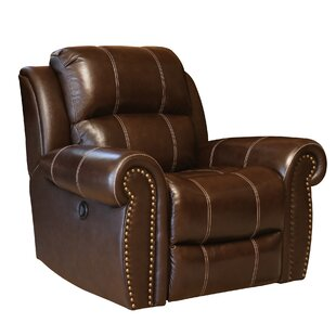 Deloatch Leather Manual Recliner Darby Home Co