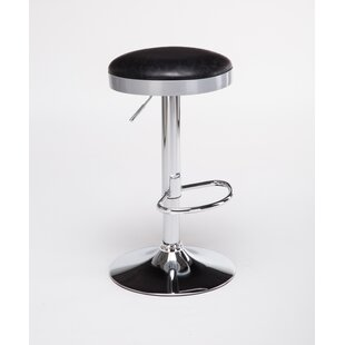 Ferranti Adjustable Height Swivel Bar Stool Ebern Designs