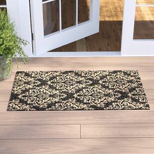 Larson Black/Cream Indoor/Outdoor Area Rug