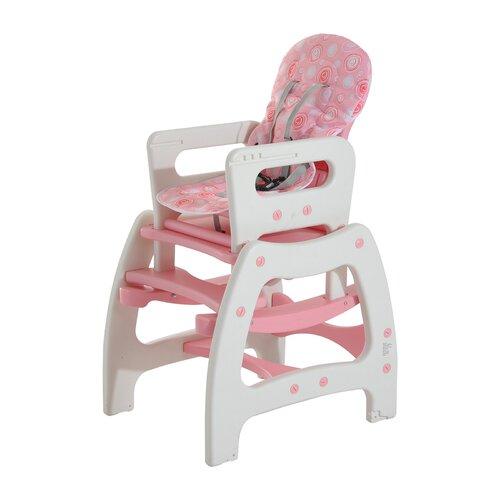 Kombihochstuhl | Kinderzimmer > Kinderzimmerstühle > Hochstühle | Rosa / weiß | Hazelwood Home