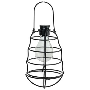 Reviews Lola Rippled Solar Powered 1-Light LED Outdoor Hanging Lantern By Trent Austin Design