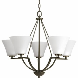 Karla 5-Light Shaded Chandelier by Fleur De Lis Living