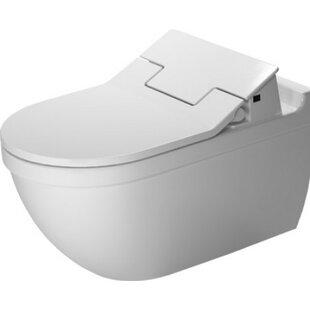 Duravit Starck Wall Mounted Durfix SensoWash Washdown 1.6 GPF Elongated Toilet Bowl