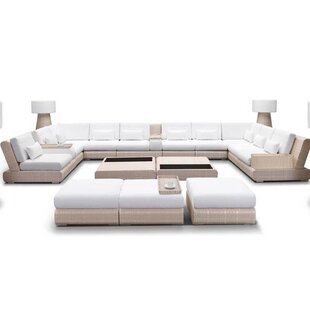 Sumba Sectional Sunbrella Seating Group With Cushion by 100 Essentials Amazing