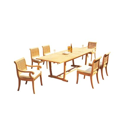 Maskell 7 Piece Teak Dining Set by Rosecliff Heights Best Choices