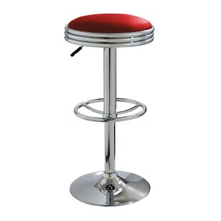 Ebern Designs Zariah Adjustable Height Swivel Bar Stool