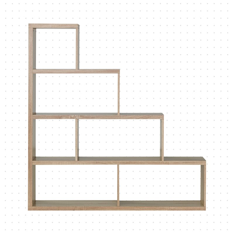 Dotted Line Greta 64 H X 61 W Step Bookcase Reviews Wayfair