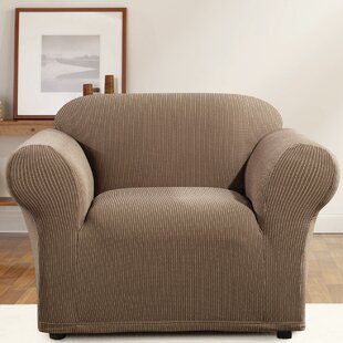 Simple Stripe Box Cushion Armchair Slipcover by Sure Fit