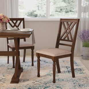 Lia Solid Wood Dining Chair (Set of 2) Lark Manor