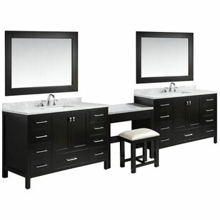 Middletown 138 Double Bathroom Vanity Set with Mirror by Andover Mills