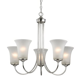 Charlton Home Bastian 5-Light Shaded Chandelier