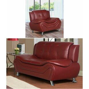 Orren Ellis Machelle 2 Piece Living Room Set