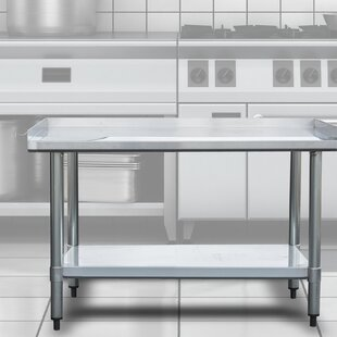 Stainless Steel Work Tables Metal Workbenches Youll Love Wayfair - Stainless steel work table with drawers