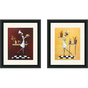 U0027Sassy Chef Iu0027 2 Piece Framed Graphic Art Print Set. U0027