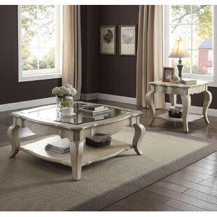 One Allium Way Adalgar 2 Piece Coffee Table Set