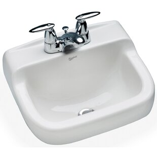 Compare Spruce Cove Vitreous China 17 Wall Mount Bathroom Sink with Overflow ByMansfield Plumbing Products