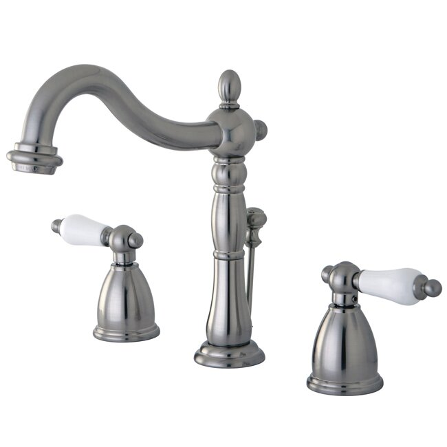 elements of design heritage widespread bathroom faucet with double
