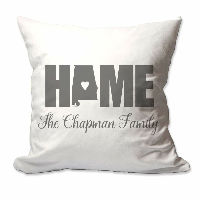 17X17 Personalized State of Utah Home Throw Pillow Decorative throw pillow Cover Only OR Cover with Insert Soft polyester