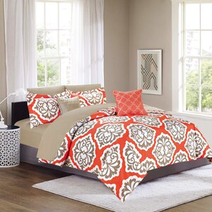 Walsh Microfiber 9 Piece Reversible Bed in Bag Sheet Set