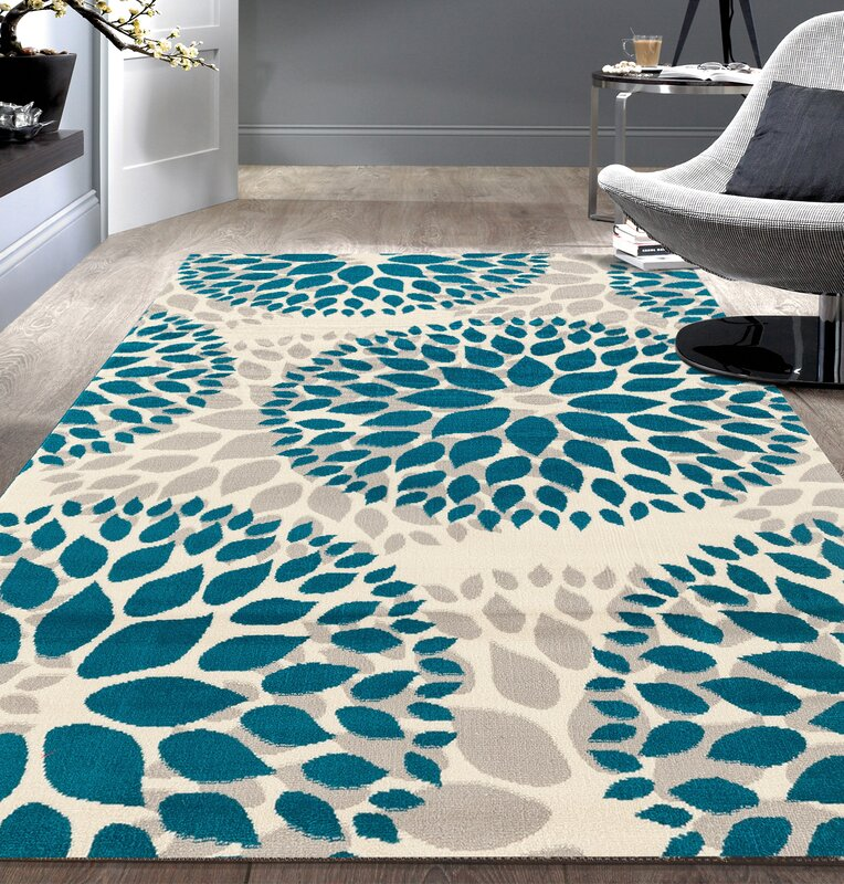 Blue Outdoor Rug 9x12: Wrought Studio Wallner Blue Area Rug & Reviews