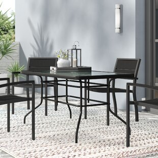 Sons Rectangular Steel Dining Table by Ebern Designs Comparison