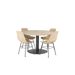 Caja Dining Set With 4 Chairs By Ebern Designs