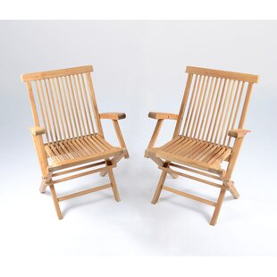 Stewart Folding Teak Patio Dining Chair