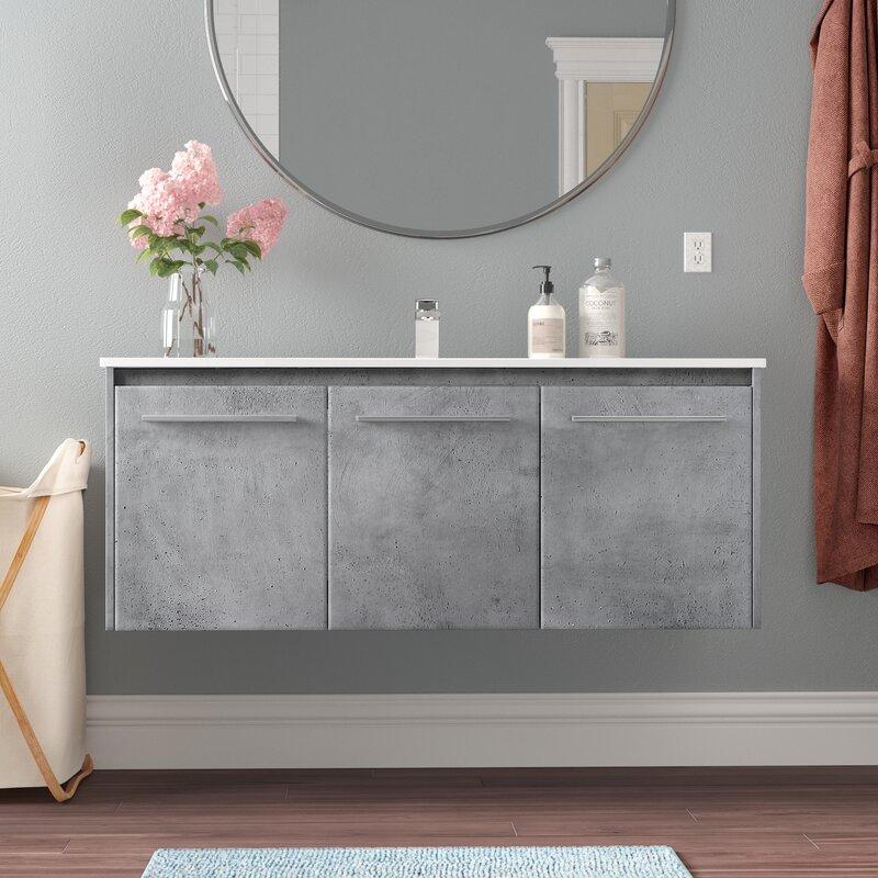Orren Ellis Lanza 48 Single Bathroom Vanity Set Reviews Wayfair