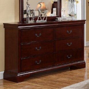 Affordable Riven 6 Drawer Double Dresser ByA&J Homes Studio