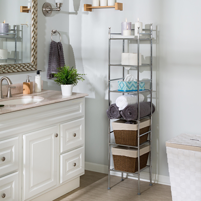 Dotted Line Coyle 12 6 W X 60 H X 11 D Free Standing Bathroom Shelf Reviews Wayfair