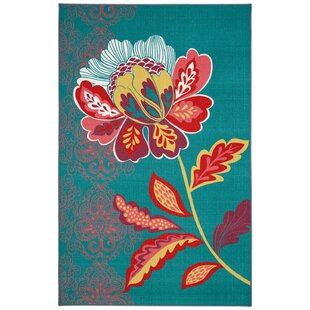 Best Choices Ruggieri Amaranda Teal Area Rug By Bungalow Rose