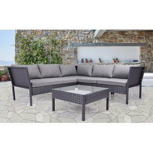 Charney 4 Piece Sectional Set With Cushions