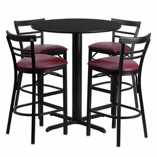 Alvarez Modern Round Laminate 5 Piece Pub Table Set Red Barrel Studio