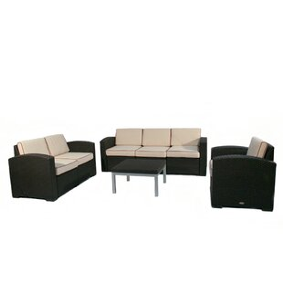 Loggins 4 Piece Sofa Set with Cushions