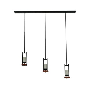 Grand Terrace 3-Light Cluster Pendant by Meyda Tiffany
