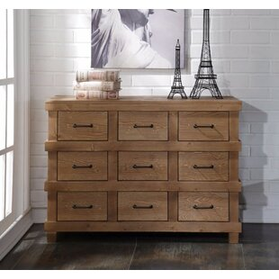 Loon Peak Whetsel Wooden 9 Drawer Dresser