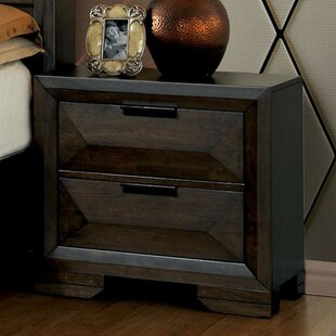 Cleary Contemporary Wood 2 Drawer Nightstand