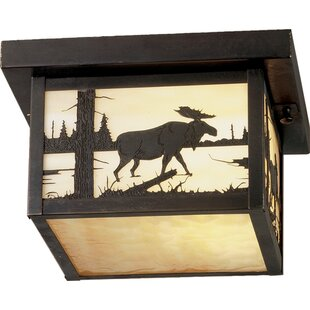 Meyda Tiffany Hyde Park Moose Creek 1-Light Flush Mount