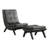 Woodbine Slipper Chair and Ottoman