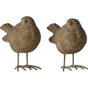 Little Birds Garden Statue (Set Of 2) By Brambly Cottage