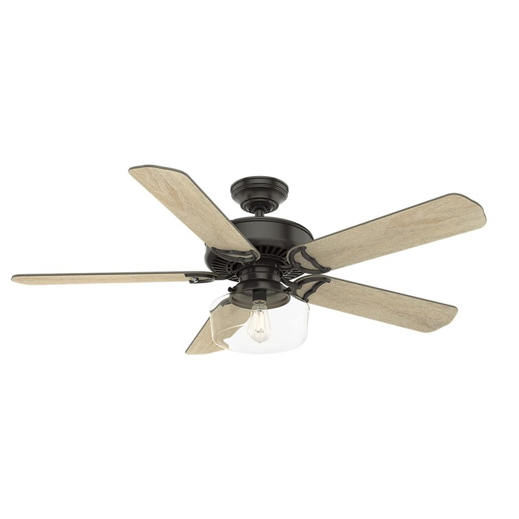 Casablanca Fan 54 Panama 5 Blade Standard Ceiling Fan With Wall Control And Light Kit Included Reviews Wayfair