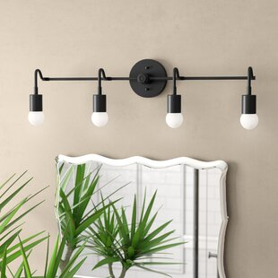 Brayden Studio Doug Handmade Curved 4-Light Vanity Light