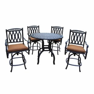Otsego 5 Piece Bar Height Dining Set