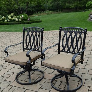 Otsego Patio Chair with Cushion (Set of 2)