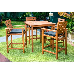 Esperance 5 Piece Bar Height Dining Set with Cushions by Bayou Breeze